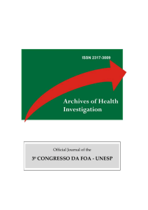 3º congresso da foa - unesp - archives of health investigation