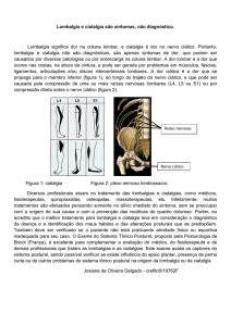 Lombalgia - ortopedia
