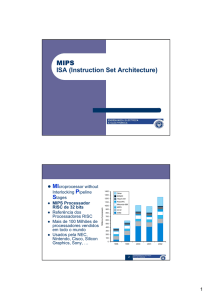 MIPS ISA (Instruction Set Architecture)