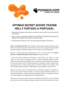 optimus secret shows trazem nelly furtado a portugal