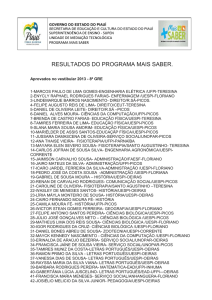resultados do programa mais saber.