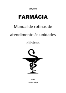 Manual da Farmacia para as Clinicas 2016