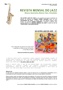revista mensal do jazz - Traditional Jazz Band