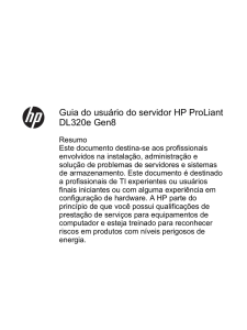 Guia do usuário do servidor HP ProLiant DL320e Gen8