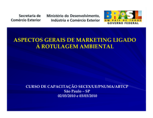 aspectos gerais de marketing ligado à rotulagem