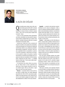 a alta do dólar - Revista O Papel