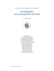 Constipação - World Gastroenterology Organisation