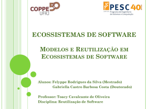 ECOSSISTEMAS DE SOFTWARE