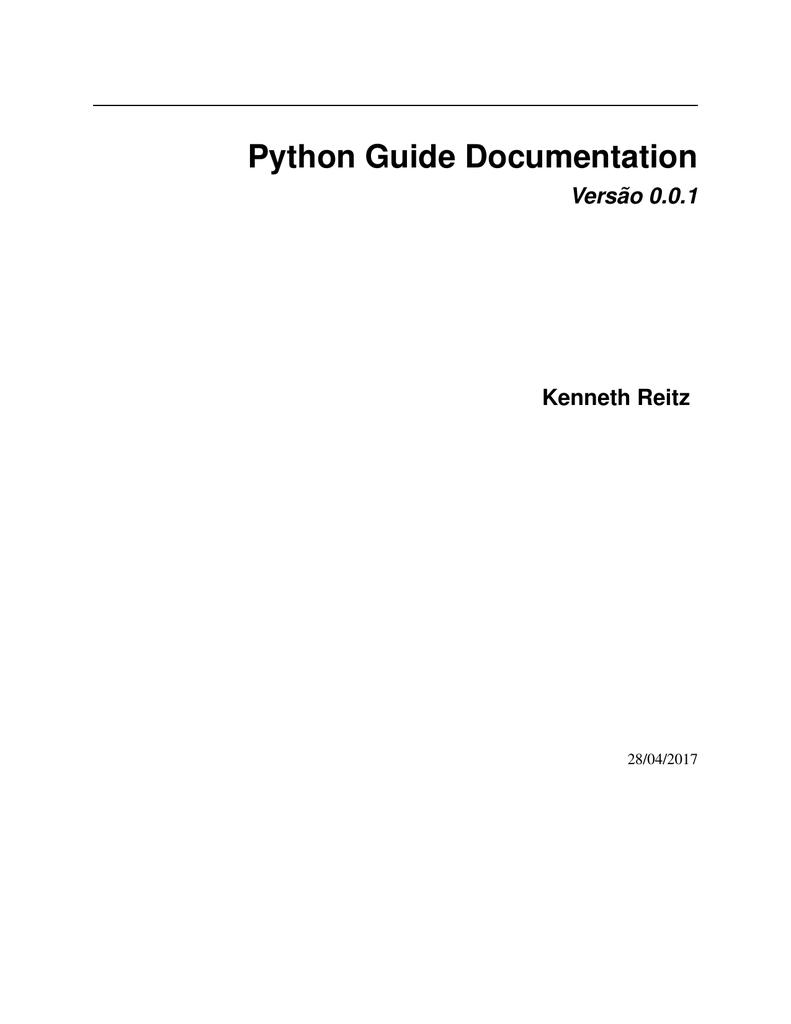Python Guide Documentation