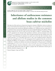 Inheritance of anthracnose resistance and allelism studies in the