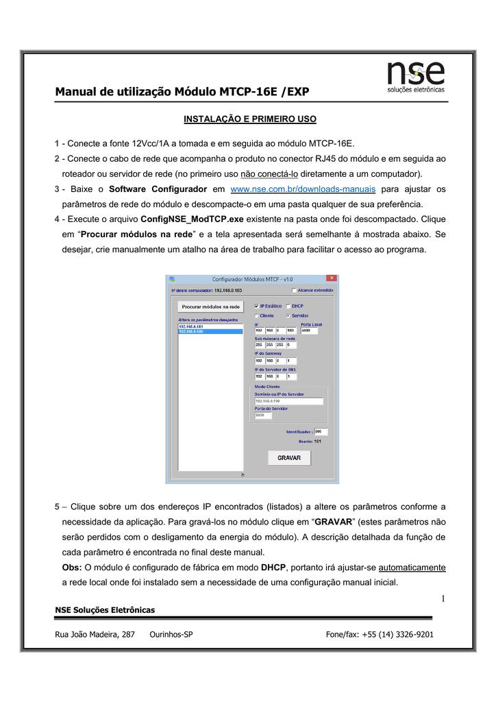 Manual de Instalação e Configuração