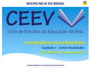 a economia do hidrogênio - Seicho-No