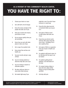 YOU HAVE THE RIGHT TO: