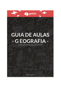 GEOGRAFIA - Professor | Geekie Lab