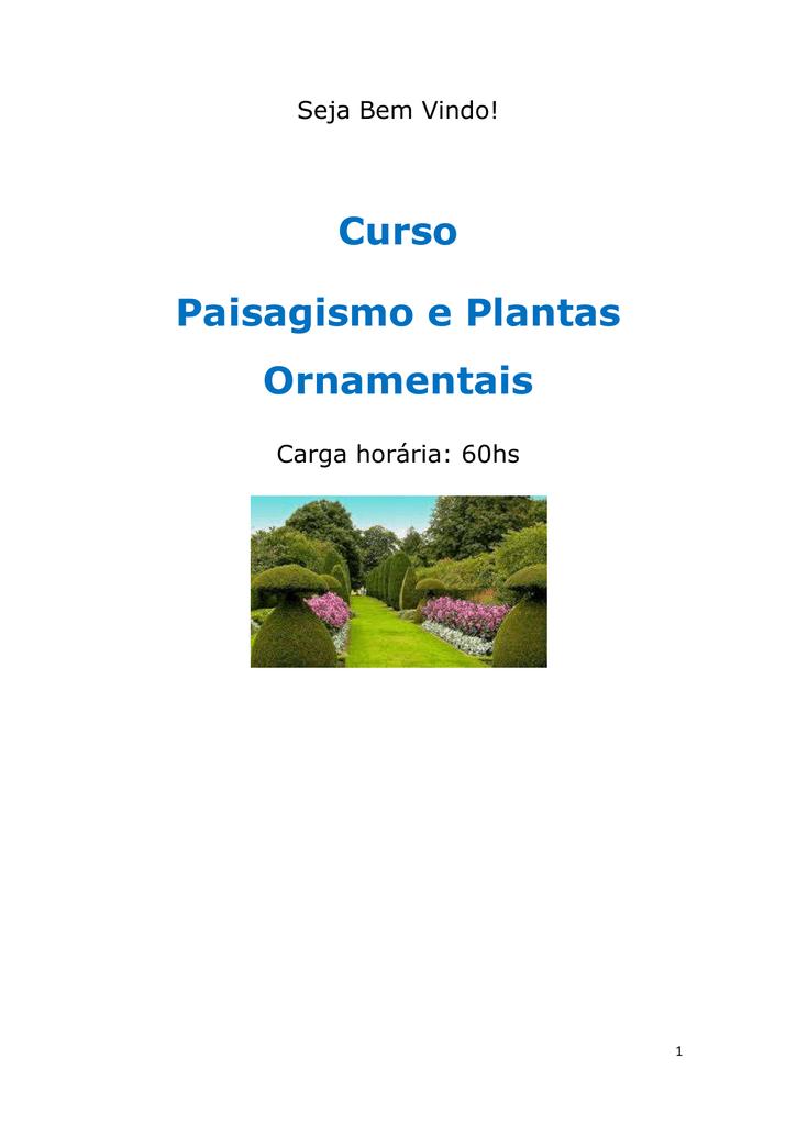 aec88ee72 Curso Paisagismo e Plantas Ornamentais