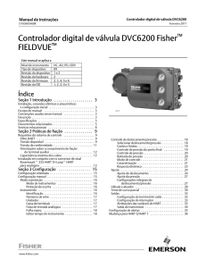 Controlador digital de válvula DVC6200 Fisher FIELDVUE