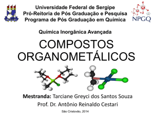 compostos organometálicos - Blog do Prof. Reinaldo/UFS