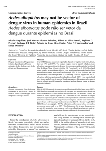 Aedes albopictus may not be vector of dengue virus in human