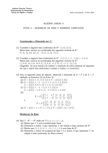 ÁLGEBRA LINEAR A FICHA 4 - Instituto Superior Técnico