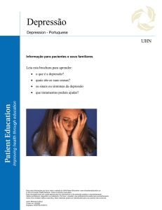 Depression (Depressão) - the University Health Network