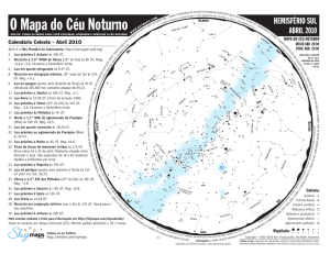The Evening Sky Map - Grupo de Astronomia da UFSCar