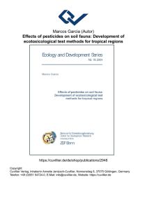 Effects of pesticides on soil fauna: Development of