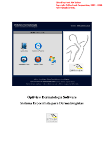 Optiview Dermatologia Software Sistema