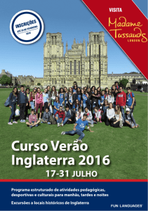 Curso Verão Inglaterra 2016 - Fun Languages