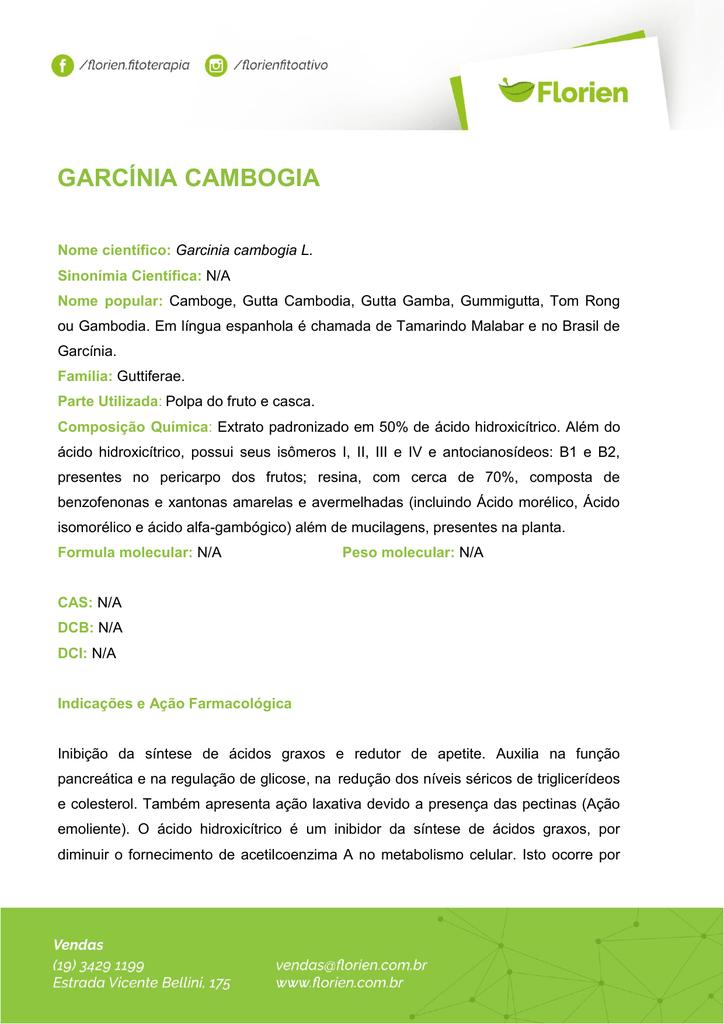 garcinia cambogia contra indicações