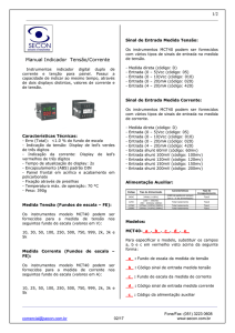 1/2 Manual Indicador Tensão/Corrente