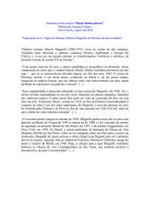 "Abstracts of the article ""Pintor Redescoberto"" Written by Suzana"