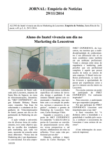 Aluno do Inatel vivencia um dia no Marketing da Leucotron