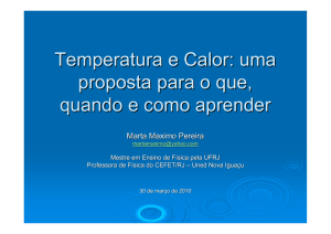 Temperatura e Calor - Instituto de Física / UFRJ