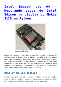 Mostrando dados do Intel Edison no display do