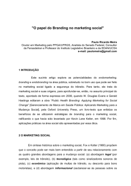 O papel do Branding no marketing social