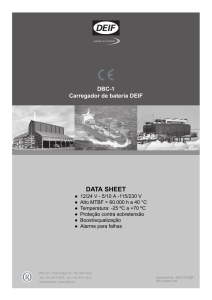 DBC-1 Carregador de bateria DEIF DATA SHEET