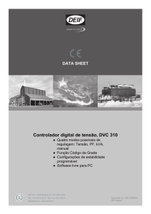 DATA SHEET Controlador digital de tensão, DVC 310