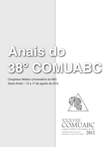 Congresso Médico Universitário do ABC Santo André – 12 a 17 de