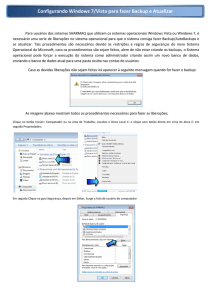 Configurando Windows 7/Vist urando Windows 7/Vista para fazer