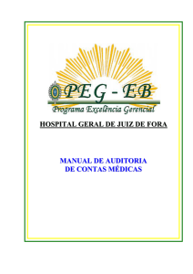 Manual de Auditoria de Contas Médicas