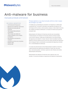 Anti-malware for business