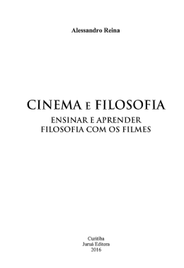 CINEMA E FILOSOFIA