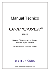 Manual Técnico Bateria Unipower UP12xxx UP6xx e