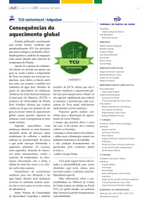Uniao 18-11-2016 - Consequencias do aquecimento global