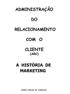 a história de marketing