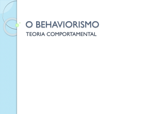O BEHAVIORISMO