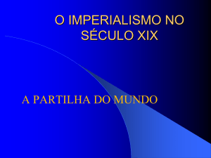 o imperialismo europeu - Instituto Montessori