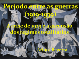 Período entre as guerras (1919