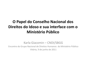O Papel do CNDI e sua Interface com o MP