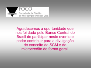 Slide 1 - Banco Central do Brasil